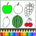 Download Fruit and Vegetables Coloring game for kids
