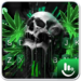 Download Green Weed Skull Keyboard Theme